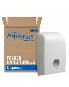 Aquarius Folded Hand Towel Dispenser White