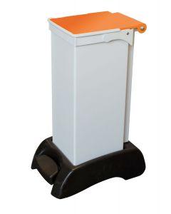23Ltr Sackholder Plastic Base, Metal Body & Metal Orange Lid