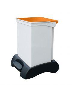42Ltr Sackholder Plastic Base, Metal Body & Metal Orange Lid