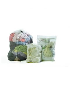 Mesh bag, 30x40cm, White with Zip closure