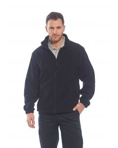 Aran Fleece Jacket, Black XL