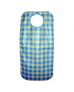 Heavy Duty Clothing Protector/Apron, snap closure, 45x90cms, Yellow Check