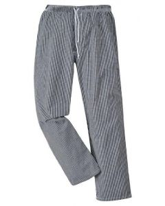 Bromley Chefs Trousers. Black/White Check Size 2XL
