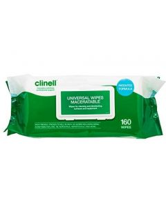 Clinell Universal Maceratable Wipes 160 wipe soft pack