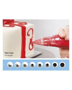 Decorating Tip Kits Plain Hole (8 Sizes)