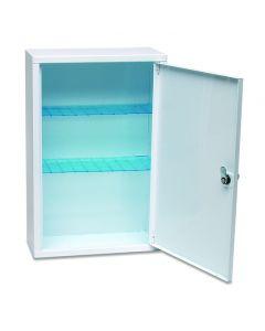 Lockable Medical Cabinet, White Metal