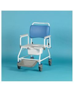 Atlantic Bariatric Commode Shower Chair 22 Inch - with footrests