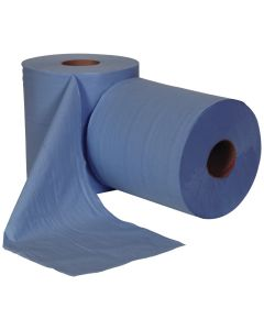 Centrefeed Roll 300M, Blue 1 ply