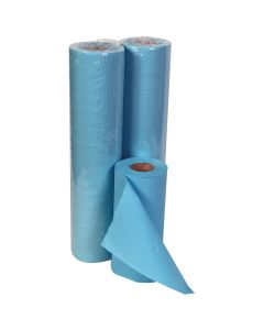 "19.68"" Embossed Hygiene Roll 44.55M, Blue 2 ply"