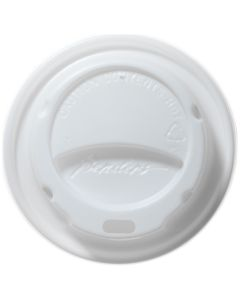 Domed Hot Cup Lid White 25/30cl