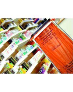 Clinical Orange Sacks Medium Duty 15 Inch x 28 Inch x 39 Inch 90L