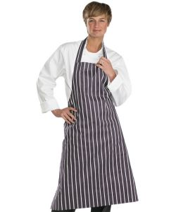Chefs Butchers Bib Apron 31 x 40 Black/White