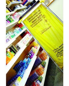 Clinical Yellow Sacks Heavy Duty 15 Inch x 28 Inch x 39 Inch 90L