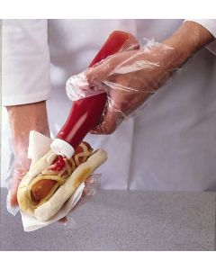 Polythene Gloves Smooth, Clear, Small