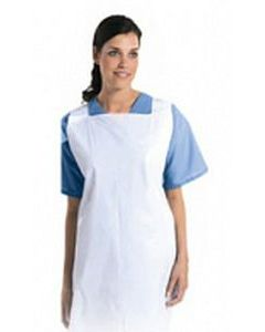 Disposable Aprons 69cm x 102cm Flat Packed White 8mu
