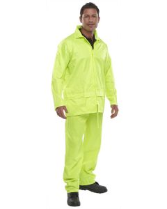 Waterproof Jacket and Trouser Set, Yellow, Large