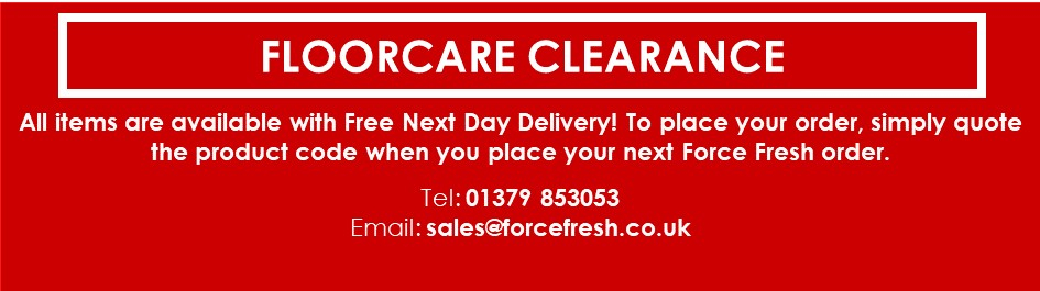 Floorcare Clearance section
